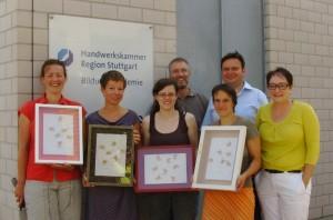 """Teilnehmer des erfolgreich abschlossenen Kurses """"Geprüfter Bildeinrahmer"""" 2012"""